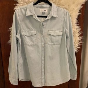 Light-wash Chambray M Old Navy